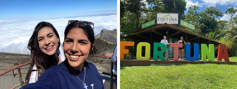 Becca Hernandez '20 and Hannah Martinez '20 in Costa Rica