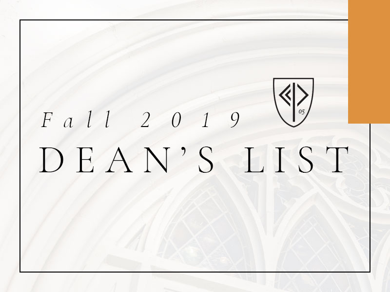 Fall 2019 Dean's List